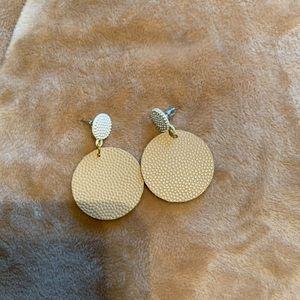 Lightweight Leather & Metal Small earrings